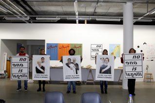 Andrea Lange, Atelier Populaire Oslo/ Palestinerleir - en dokumentasjon, 2012. Foto: Andrea Lange