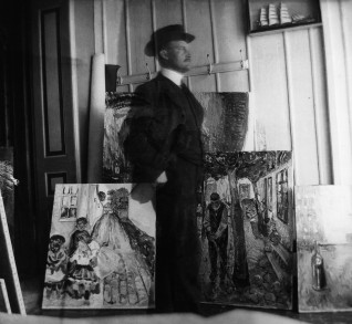 Selvportrett av Edvard Munch. Fotorettigheter: Foto: The Robert Meyer Collection / © Munchmuseet 2013