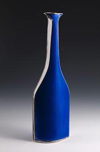 """Grete Prytz Kittelsen, """"Vase"""", 1960. Sølv og emalje. Foto: Børre Høstland, Nasjonalmuseet"""