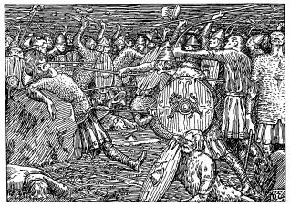"""Egedius, """"Kong Olavs fall"""", (1895-1899), p.e."""