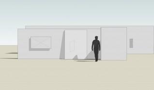 Utstillingen sett fra inngangen. Illustrasjon: Daniel Rybakken