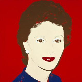 Andy Warhol. The Crown Princess Sonja. Foto: Nasjonalmuseet