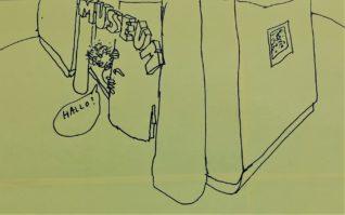 Tegning av Per Odd Bakke