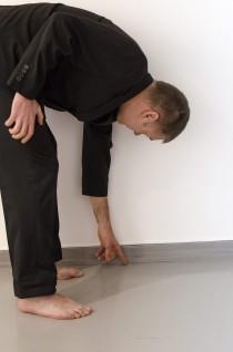 Performance i Porsgrunn kunstforening. Foto: Børre Høstland, Nasjonalmuseet