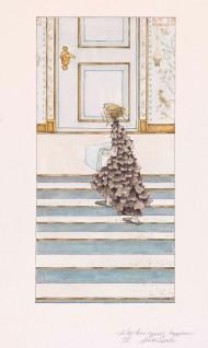 """Annine Qvale, 2005 """"Så løp hun oppover trappene, så det ramlet i trestakken, Til """"""""Kari Trestakk"""""""" i Den store boken med eventyr.  Oslo: Gyldendal Norsk Forlag, 2005"""""""