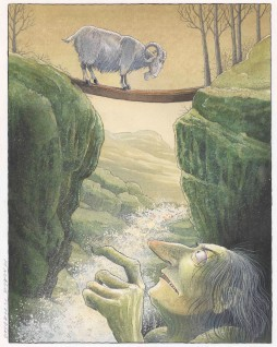 "Harald Nordberg, 2006 ""Hvem er det som tramper på mi bru? skrek trollet Til """"De tre bukkene bruse"""" i Den store Asbjørnsen og Moe boka. Oslo: Aschehoug, 2006"""