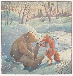 "Harald Nordberg, 2006. Bjørnen og reven Til ""Hvorfor bjørnen er stubbrumpet"" i Den store Asbjørnsen og Moe boka. Oslo: Aschehoug, 2006"