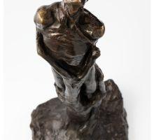Gustav Vigeland. Angsten står i sofaen