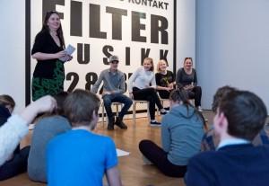 """Fra formidling av """"I Nasjonalmuseets blindsone"""" Foto: Nasjonalmuseet"""