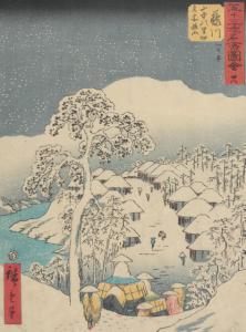 Utagawa Hiroshige, Fujikawa: Fjelllandsby, 1885 Vises i Japanomania i Norden som åpner 17.juni 2016.
