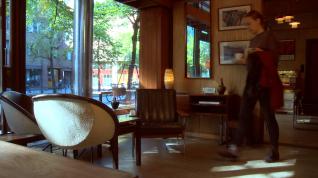 Sven Ivar Dysthe, 1001 lenestol og Popcorn. Kafefuglen, Oslo. Foto: Screenshot, Nasjonalmuseet