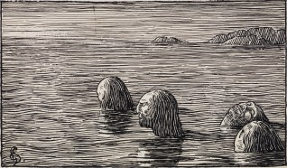 "Halfdan Egedius ""Seidmennene på Skratteskjær"" (1895-1899) NMK. Foto: Nasjonalmuseet."